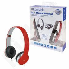 Ausinės LogiLink stereo su mikrofonu