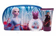 Disney Frozen II, rinkinys tualetinis vanduo vaikams, (EDT 50 ml + dušo želė 100 ml + kosmetika krepšys)