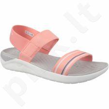 Basutės Crocs LiteRide Sandal W 205106-6KP pomarańczowe