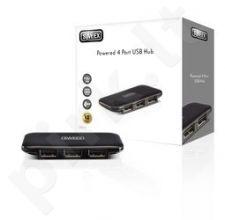 USB šakotuvas Sweex 4x USB 2.0 išorinis juodas
