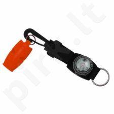 Švilpukas Fox 40 Marine Safety S216354 oranžinis + led lemputė