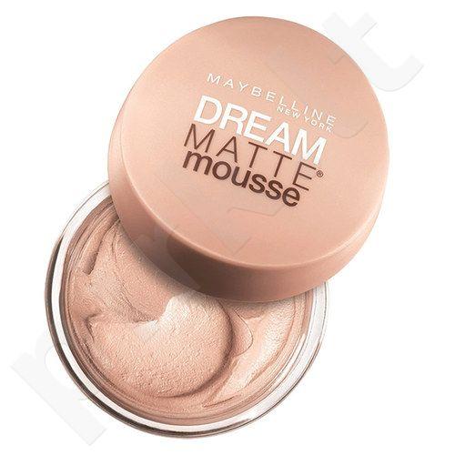 Maybelline Dream Matte Mousse SPF15, matinė kreminė pudra kosmetika moterims, 18ml, (30 Sand)