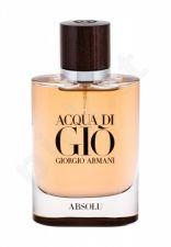 Giorgio Armani Acqua di Gio, Absolu, kvapusis vanduo vyrams, 75ml