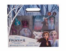 Disney Frozen II, rinkinys tualetinis vanduo vaikams, (EDT 50 ml + nagų lakas 2 x 5 ml + kosmetika krepšys)