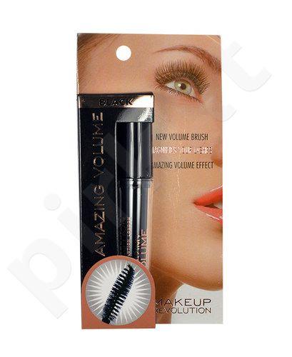 Makeup Revolution London Amazing Volume blakstienų tušas, kosmetika moterims, 5,5ml, (Black)