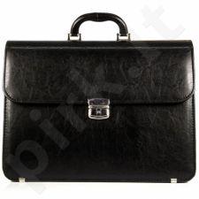 Elegancka juoda rankinė dirbtinės odos D770