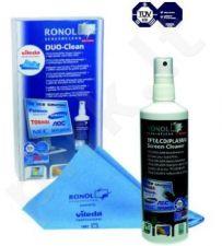 RONOL valymo rinkinys TFT/LCD Duo Clean RON-10020 (skystis 125ml+Vileda)