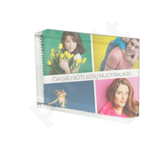 """Fotokristalas """"Stačiakampis"""" su Jūsų pasirinkta nuotrauka (8x6 cm)"""