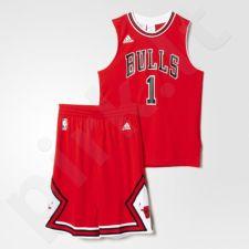 Komplektas krepšininkui Adidas Chicago Bulls Mini Kit Replica Junior AC0552