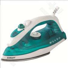Scarlett SC-SI30S01 Steam Iron, GlissAir soleplate, Steam ironing, Spraying, Self-clean function, Blue
