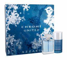Azzaro Chrome United, rinkinys tualetinis vanduo vyrams, (EDT 50 ml + pieštukinis dezodorantas 75 ml)
