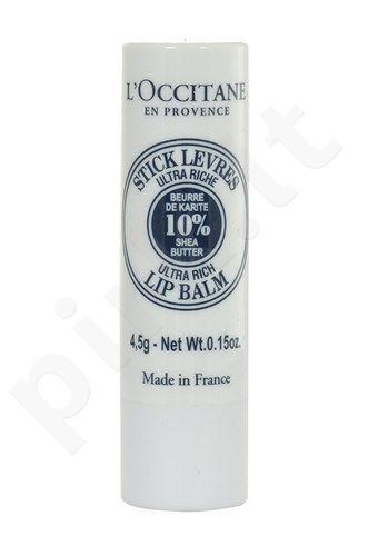 L´Occitane Shea Butter lūpų balzamas, kosmetika moterims, 4,5g