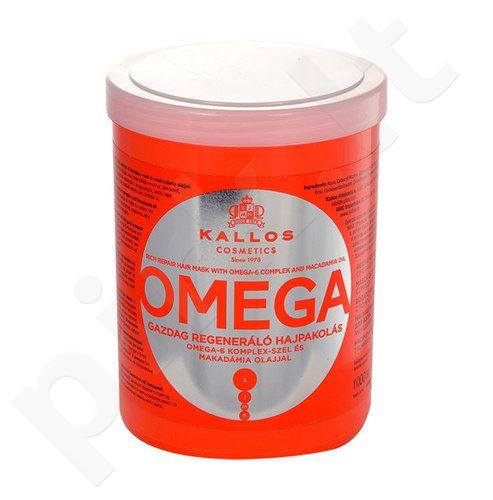 Kallos Omega plaukų kaukė, kosmetika moterims, 1000ml