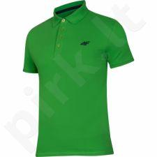 Marškinėliai polo 4f M H4L17-TSM023 žalio atspalvio