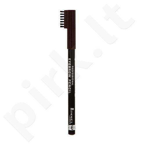 Rimmel London antakių kontūrų pieštukas, kosmetika moterims, 1,4g, (001 Dark Brown)