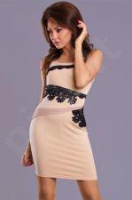 Emamoda suknelė - kreminė 7202-1 S dydis