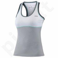 Marškinėliai tenisui Head Vision Berry Tank Top W 814346 biało-pilkas