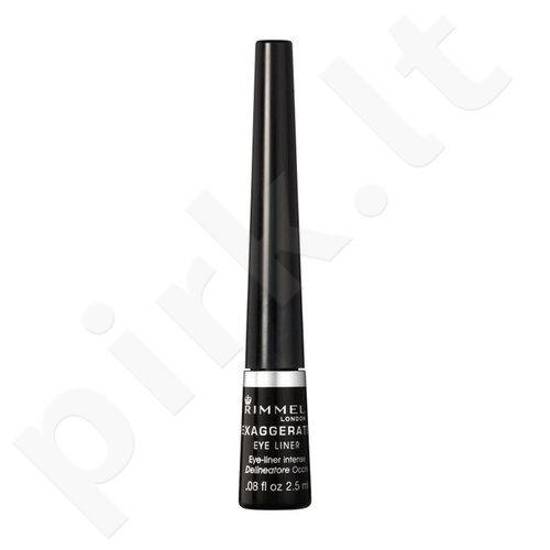 Rimmel London Exaggerate akių kontūrų priemonė, kosmetika moterims, 2,5ml, (001 Black)