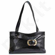 DAN-A T100 juoda rankinė iš natūralios odos , moteriška