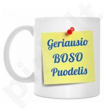 """Puodelis """"Geriausio boso puodelis"""""""