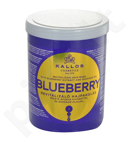 Kallos Blueberry plaukų kaukė, kosmetika moterims, 1000ml