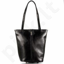 DAN-A T301 juoda rankinė moterims odinė