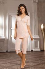 Pižama SELENA (persikų spalvos) (dydžiai ik 3XL)