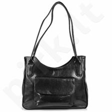DAN-A T160 juoda rankinė iš natūralios odos , moteriška