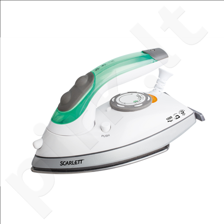 Scarlett SC-SI30T01R Steam Iron, Spraying, Soleplate GlissAir, Foldable handle iron, 1000W