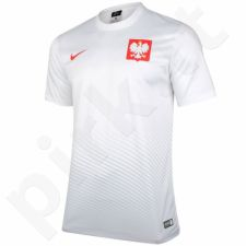 Marškinėliai futbolui Nike Polska Youth Away Supporters Tee Junior 846807-100