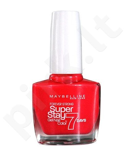 Maybelline Forever Strong Super Stay 7 Days Nail Color, kosmetika moterims, 10ml, (700 Black Is Black)
