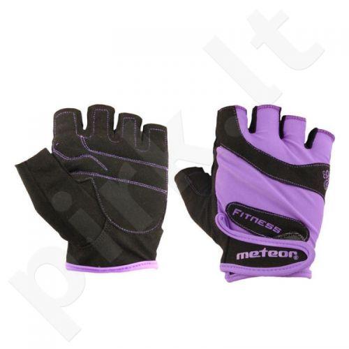 Pirštinės Meteor Fitness Gloves Grip Lady violetinės