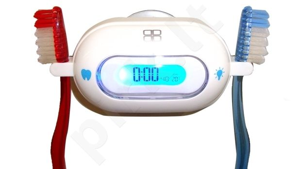 Laikrodis DOUBLEDIGIT CLOCK - BIANCHY WHITE (dental time)