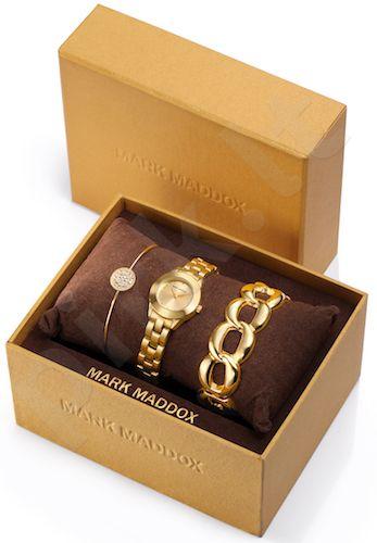 Moteriškas laikrodis MARK MADDOX Pack – Golden chic. 24 mm. kvarcinis WR 30 meters