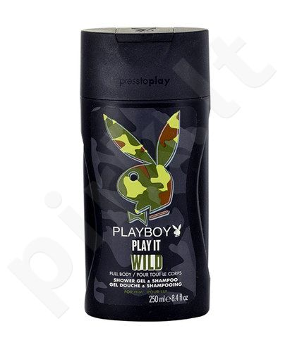 Playboy Play It Wild, dušo želė vyrams, 250ml