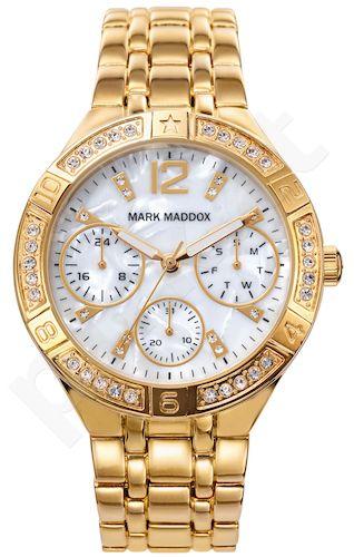 Moteriškas laikrodis MARK MADDOX – Golden chic. 38 mm. chronometras. kvarcinis WR 30 meters