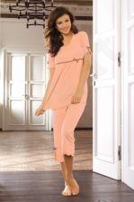 Pižama NINA (abrikoso spalvos)