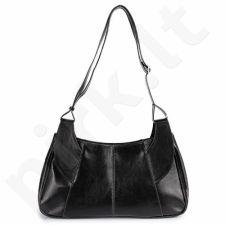 DAN-A T101 juoda rankinė iš natūralios odos , moteriška
