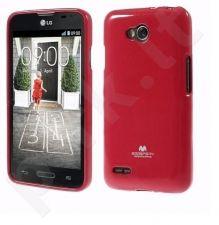 LG L80 dėklas JELLY Mercury raudonas