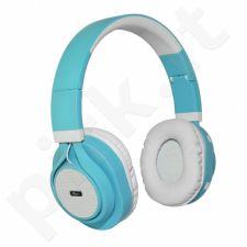 ART Bluetooth Headphones with microphone AP-B04 white/cyan