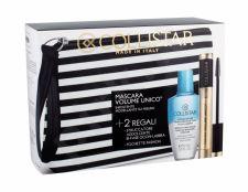 Collistar Volume Unico, rinkinys blakstienų tušas moterims, (Mascara 13 ml + makiažo valiklis Gentle Two Phase 50 ml + kosmetika krepšys), (Intense Black)
