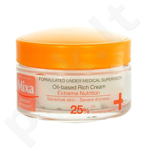 Mixa Oil-based prabangus kremas, kosmetika moterims, 50ml