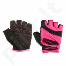 Pirštinės Meteor Fitness Gloves Grip Lady ružuvos