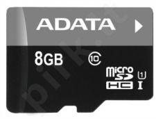 Atminties kortelė Adata microSDHC 8GB UHS1 + Adapteris