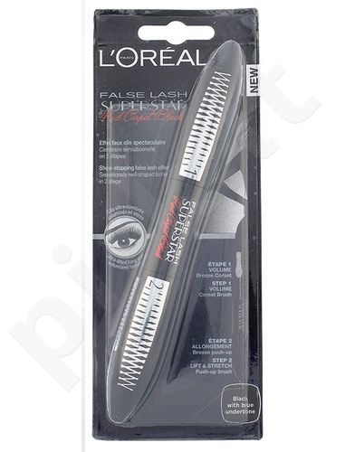 L´Oreal Paris False Lash Superstar Red Carpet blakstienų tušas, kosmetika moterims, 13ml, (Black With Blue Undertone)