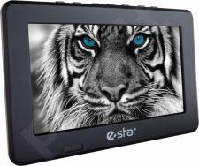 Televizorius eSTAR PORTABLE TV 9 D1T2 veikiantis nuo baterijos, 220V arba 12V