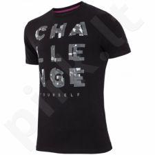 Marškinėliai 4f M H4L17-TSM014 juoda
