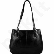 DAN-A T93 juoda rankinė iš natūralios odos , moteriška