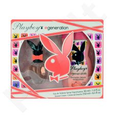 Playboy Generation For Her rinkinys moterims, (EDT 30ml + 250ml dušo kremas)