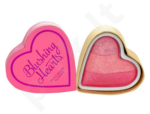 Makeup Revolution London I Heart Makeup, Blushing Hearts, skaistalai moterims, 10g, (Iced Hearts)